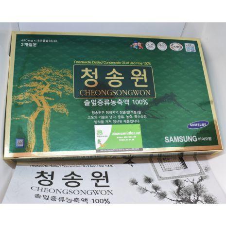 Viên tinh dầu thông đỏ Cheong Song Won 180 viên hộp xanh Hàn Quốc