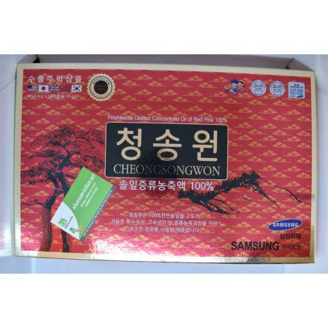 Viên tinh dầu thông đỏ Cheong Song Won 180 viên hộp đỏ Hàn Quốc