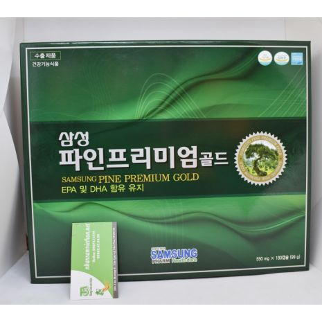 Viên tinh dầu thông đỏ Samsung Pine Predium Gold 180 viên Hàn Quốc